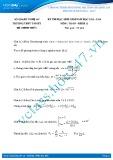 Đề thi học sinh giỏi môn Toán lớp 11 năm 2013-2014 - Trường THPT Tân Kỳ
