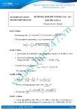 Đề thi học sinh giỏi môn Toán lớp 11 năm 2012-2013 - Trường THPT Nhã Nam