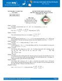Đề thi tuyển sinh lớp 10 môn Toán (Chuyên) năm 2013-2014 - THPT Chuyên Hoàng Lê Kha (Sở GD&ĐT Tây Ninh)