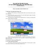 Tài liệu ôn tập môn Tin học kỳ thi tuyển Công chức của tỉnh năm 2013 (chương trình A)