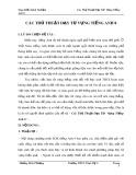 Sáng kiến kinh nghiệm: Các thủ thuật dạy từ  vựng Tiếng Anh 8