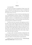 Luận văn: Âm nhạc dân gian người Nùng tỉnh Bắc Giang