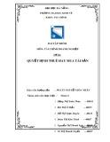 Bài tập nhóm Tài chính doanh nghiệp: Quyết định thuê hay mua tài sản