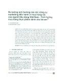 Đo lường ảnh hưởng của các công cụ Marketing đến hành vi mua hàng nội của người tiêu dùng Việt Nam - Tình huống mua hàng thực phẩm dành cho trẻ em