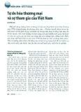 Tự do hóa thương mại và sự tham gia của Việt Nam