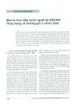 Đầu tư trực tiếp nước ngoài tại ASEAN: Thực trạng và những gợi ý chính sách