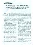 Tái cấu trúc quản lý, kinh doanh vốn theo thông lệ quốc tế trong tiến trình tái cơ cấu hệ thống ngân hàng tại Việt Nam