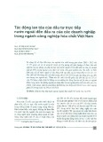 Tác động lan tỏa của đầu tư trực tiếp nước ngoài đến đầu ra của các doanh nghiệp trong ngành công nghiệp hóa chất Việt Nam