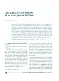 Cộng đồng Kinh tế ASEAN và sự tham gia của Việt Nam