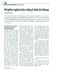 Để giảm nghèo bền vững ở tỉnh An Giang