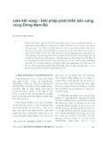 Liên kết vùng - Giải pháp phát triển bền vững vùng Đông Nam bộ