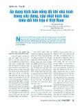 Áp dụng kịch bản nồng độ khí nhà kính trong xây dựng, cập nhật kịch bản biến đổi khí hậu ở Việt Nam