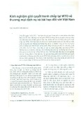 Kinh nghiệm giải quyết tranh chấp tại WTO về thương mại dịch vụ và bài học đối với Việt Nam