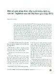 Một số giải pháp thúc đẩy xuất khẩu dịch vụ vận tải - logistics sau khi Việt Nam gia nhập WTO