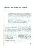 Xuất khẩu thủy sản Việt Nam sang EU
