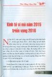 Kinh tế vĩ mô năm 2015 triển vọng năm 2016