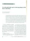 Cơ chế phát triển sạch và khung pháp lý triển khai ở Việt Nam