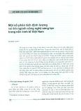 Một số phân tích định lượng vai trò ngành công nghệ sáng tạo trong nền kinh tế Việt Nam