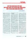 Hiệp hội Ngân hàng Việt Nam góp phần thực thi có hiệu quả chính sách của Ngân hàng Nhà nước