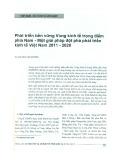 Phát triển bền vững vùng kinh tế trọng điểm phía Nam - Một giải pháp đột phá phát triển kinh tế Việt Nam 2011 - 2020