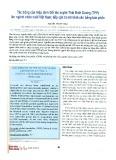 Tác động của Hiệp định Đối tác xuyên Thái Bình Dương (TPP) lên ngành Chăn nuôi Việt Nam: Tiếp cận từ mô hình cân bằng bán phần