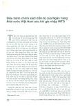 Điều hành chính sách tiền tệ của Ngân hàng Nhà nước Việt Nam sau khi gia nhập WTO
