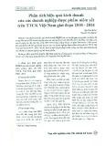 Phân tích hiệu quả kinh doanh của các doanh nghiệp dược phẩm niêm yết trên TTCK Việt Nam giai đoạn 2010 - 2014