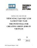 Thông tin chuyên đề Tiềm năng tạo việc làm xanh ở Việt Nam - The Potential for Creating Green Jobs in Vietnam