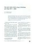 Cải cách hành chính công ở Việt Nam giai đoạn 2011 - 2020
