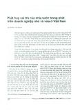 Phát huy vai trò của nhà nước trong phát triển doanh nghiệp nhỏ và vừa ở Việt Nam