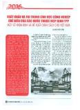 Xuất khẩu và FDI trong lĩnh vực công nghiệp chế biến của các nước thuộc Hiệp định TPP - Một số nhận định và đề xuất chính sách cho Việt Nam