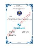 Khóa luận tốt nghiệp Quản trị kinh doanh: Phân tích mối liên hệ giữa rào cản chuyển đổi và lòng trung thành của khách hàng tại Ngân hàng TMCP Eximbank chi nhánh Huế