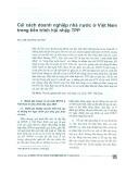 Cải cách trong doanh nghiệp nhà nước Việt Nam trong tiến trình hội nhập TPP