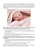 Hướng dẫn thủ tục đăng ký nhập hộ khẩu cho con mới sinh