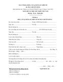 Mẫu tờ khai đổi, cấp lại đăng ký, biển số xe máy chuyên dùng