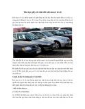 Thủ tục giấy tờ cần biết khi mua ô tô cũ