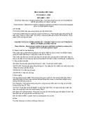 Tiêu chuẩn Việt Nam TCVN 6012:1995 - ISO 6460:1981