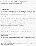 Tiêu chuẩn Quốc gia TCVN 5283:2007
