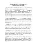 Mẫu hợp đồng bán hàng bằng tiếng Anh