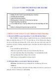 Lý luận và phương pháp dạy học Đại học
