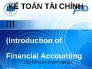 Bài giảng Kế toán tài chính III: Chương 1 - ĐH Kinh tế TP.HCM