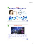 Bài giảng Sinh học phân tử: Chương 1 - Nguyễn Hữu Trí
