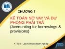 Bài giảng Kế toán tài chính II: Chương 7 - ĐH Kinh tế TP.HCM
