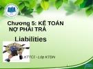 Bài giảng Kế toán tài chính I: Chương 5 - ĐH Kinh tế TP.HCM