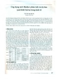 Ứng dụng xích Markov phân tích và dự báo quá trình hội tụ trong kinh tế