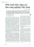 Phát triển bền vững các khu công nghiệp Việt Nam