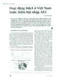 Hoạt động M&A ở Việt Nam trước thềm hội nhập AEC