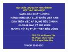 Nâng cao chất lượng hàng nông sản xuất khẩu Việt Nam dựa trên việc áp dụng tiêu chuẩn Global Gap và ISO 22000