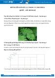Hướng dẫn giải bài 1,2,3 trang 131 SGK Sinh học 6