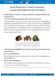 Hướng dẫn giải bài 1,2,3 trang 122 SGK Sinh học 7